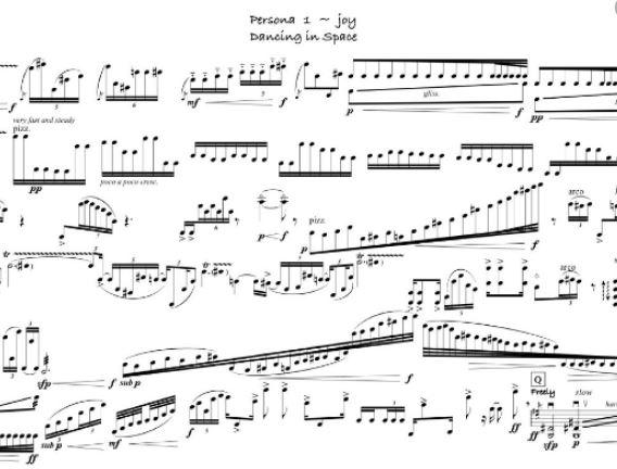dancing in space music sheet